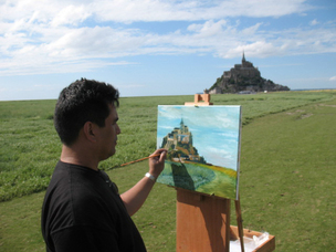 Painting Mont-St. Michel