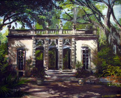"""Casino At Vizcaya"" (2010), 16"" x 20"", Oil on Canvas"